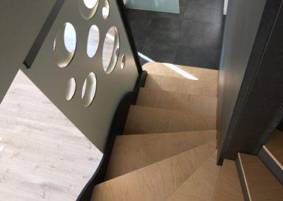 Escalier multifonctions par le faiseur de Choses, Architecte d'intérieur UFDI, à Lanester 56 : Transparence.