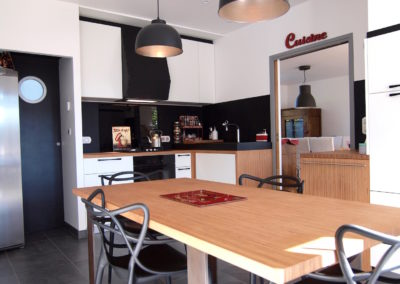 Cuisine Design à Quimperlé 29, par le faiseur de Choses, Architecte d'intérieur UFDI : Vue d'ensemble.