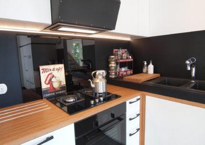 Cuisine Design à Quimperlé 29, par le faiseur de Choses, Architecte d'intérieur UFDI : la zone de cuisson.